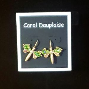 NWOT Gold tone dragonfly earrings